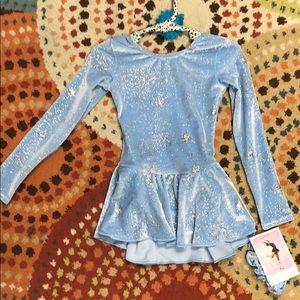 Girls ice blue figure skating dress size 4/6